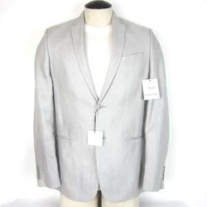 Calvin Klein Mens Sport Coat S Slim Fit Gray